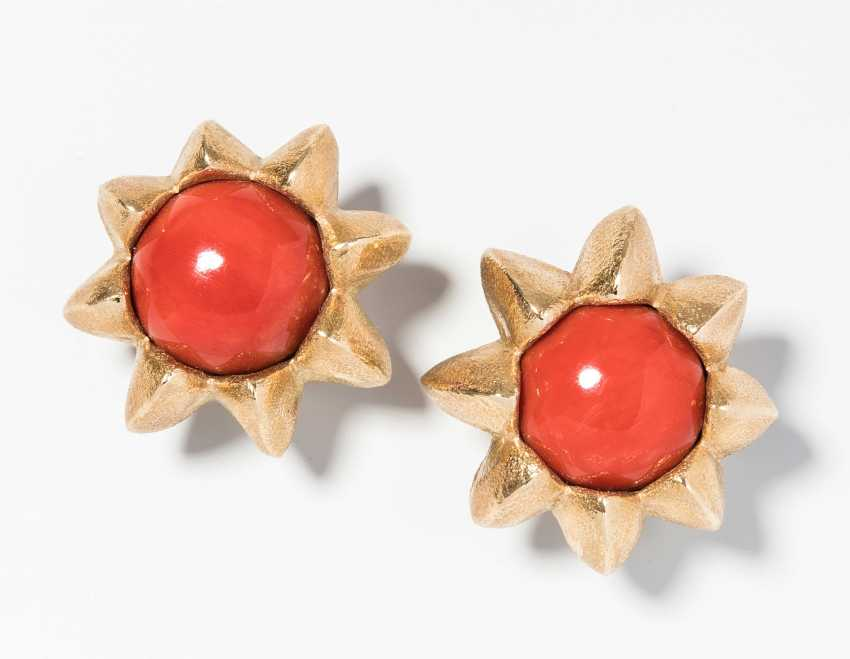 Philippe Pfeiffer Coral Stud Earrings - photo 1