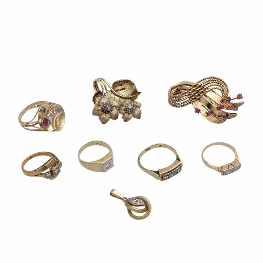 Jewelry mixed lot of 8 pieces, - photo 1