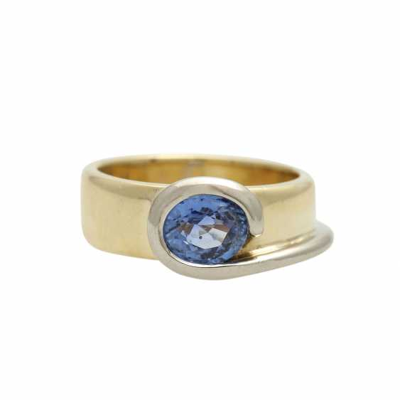 Ring mit Saphir ca. 1,5 ct, - photo 1