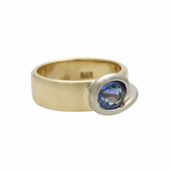 Ring mit Saphir ca. 1,5 ct, - photo 2
