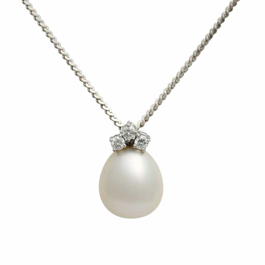 Chain and pendant with South sea pearl - photo 1