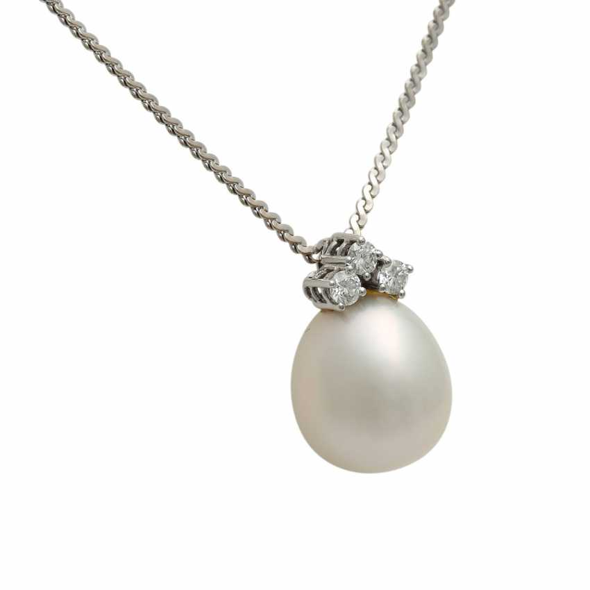 Chain and pendant with South sea pearl - photo 2