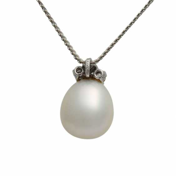 Chain and pendant with South sea pearl - photo 3