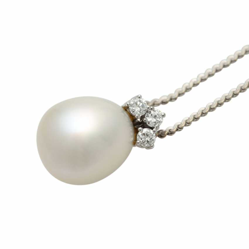 Chain and pendant with South sea pearl - photo 4