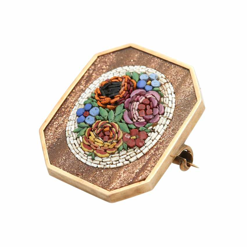 A brooch with micro mosaic - photo 4