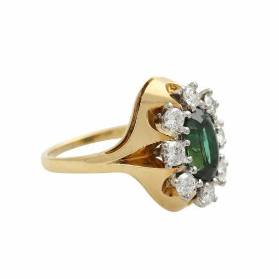 Ring with tourmaline and brilliants - photo 2
