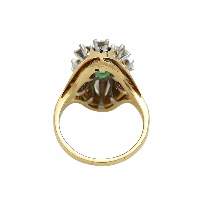 Ring with tourmaline and brilliants - photo 4