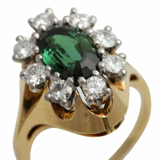 Ring with tourmaline and brilliants - photo 5