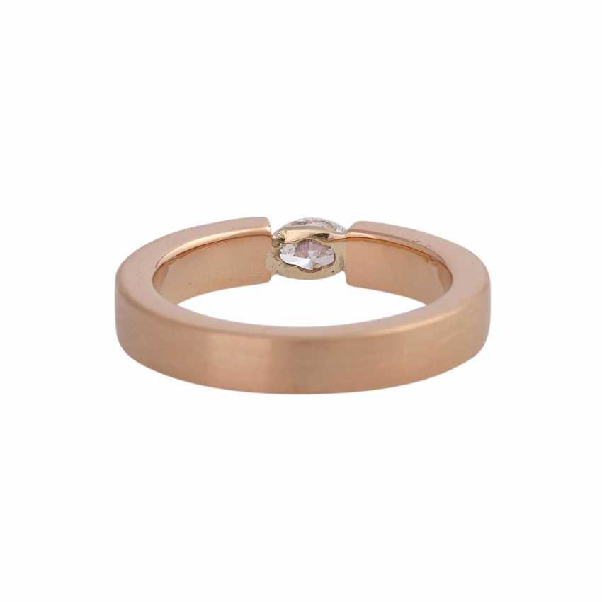 Ring mit Navette-Diamant ca. 0,25 ct, - photo 4