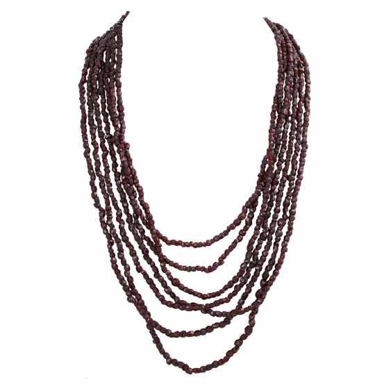 7-row garnet necklace - photo 1
