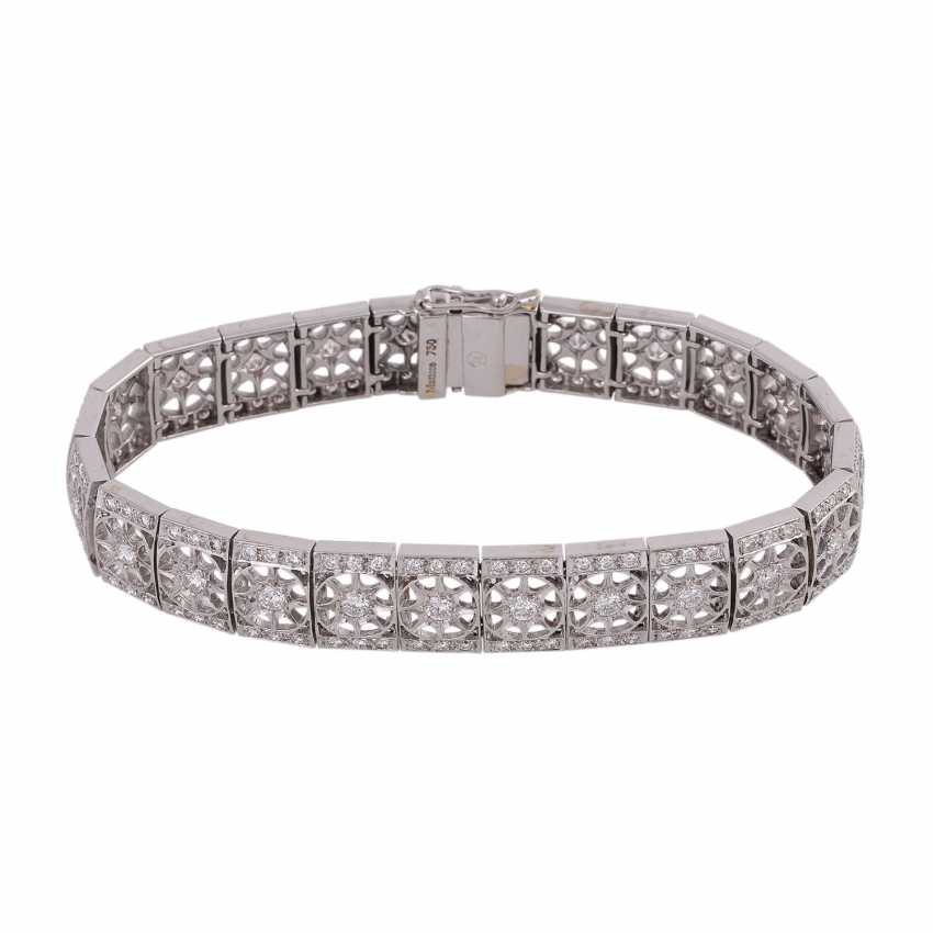 Bracelet with brilliant-cut diamonds approximately 2.9 ct, - photo 2