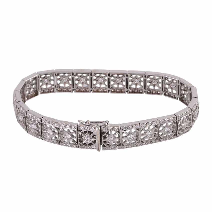 Bracelet with brilliant-cut diamonds approximately 2.9 ct, - photo 3