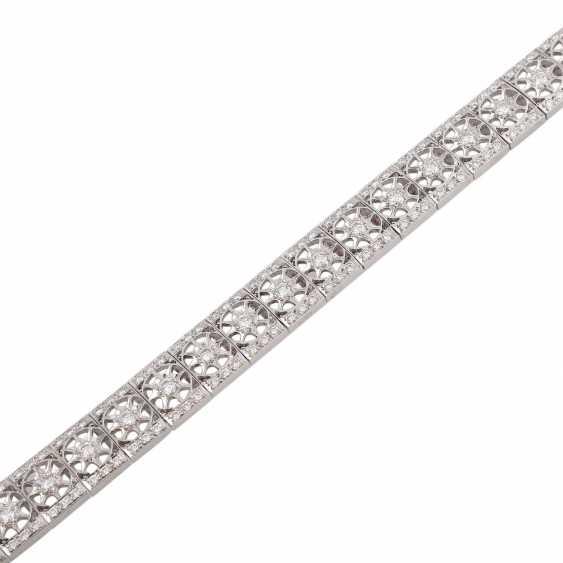 Bracelet with brilliant-cut diamonds approximately 2.9 ct, - photo 5