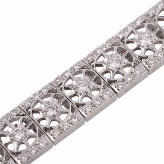 Bracelet with brilliant-cut diamonds approximately 2.9 ct, - photo 1
