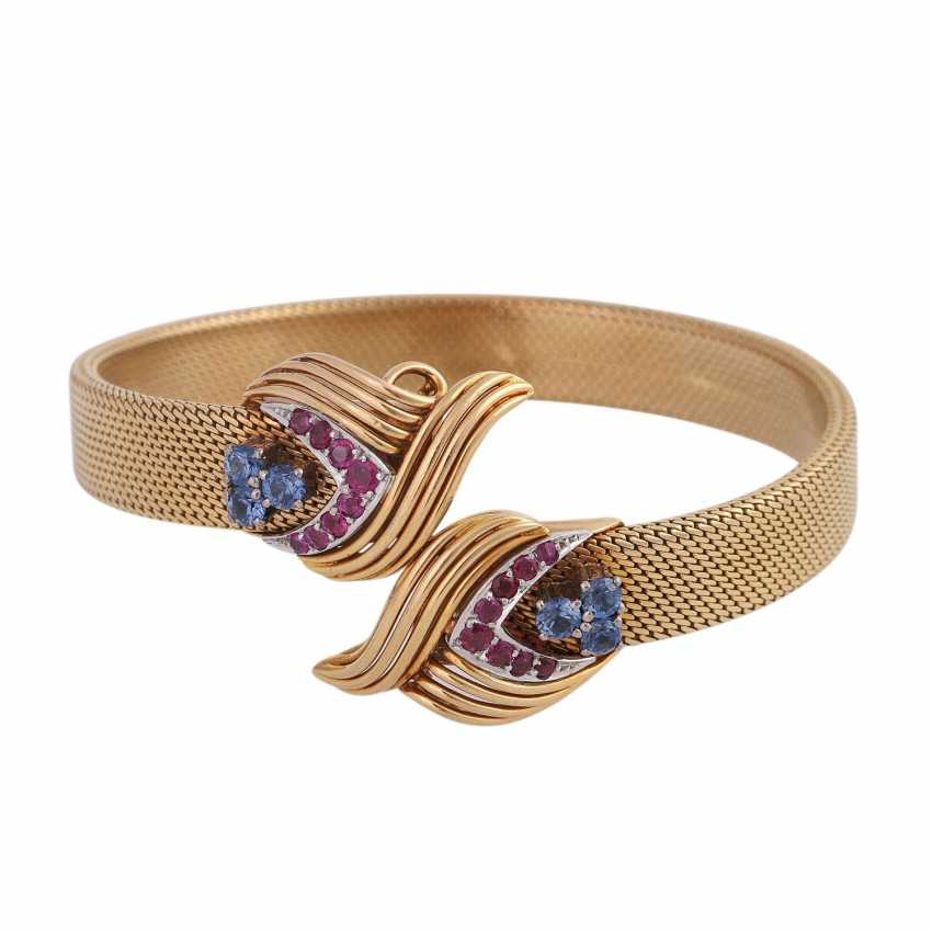 SHILLING bangle with sapphires and rubies, - photo 1