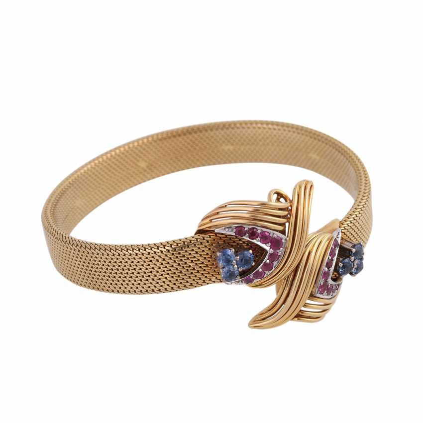 SHILLING bangle with sapphires and rubies, - photo 2