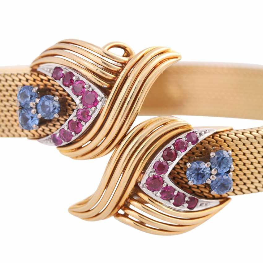 SHILLING bangle with sapphires and rubies, - photo 5