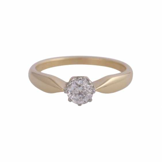 Diamond solitaire ring, approx 0.45 ct, - photo 1