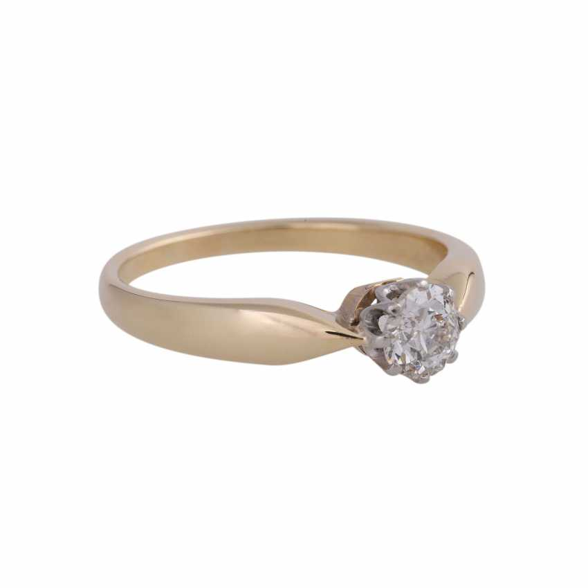 Diamond solitaire ring, approx 0.45 ct, - photo 2