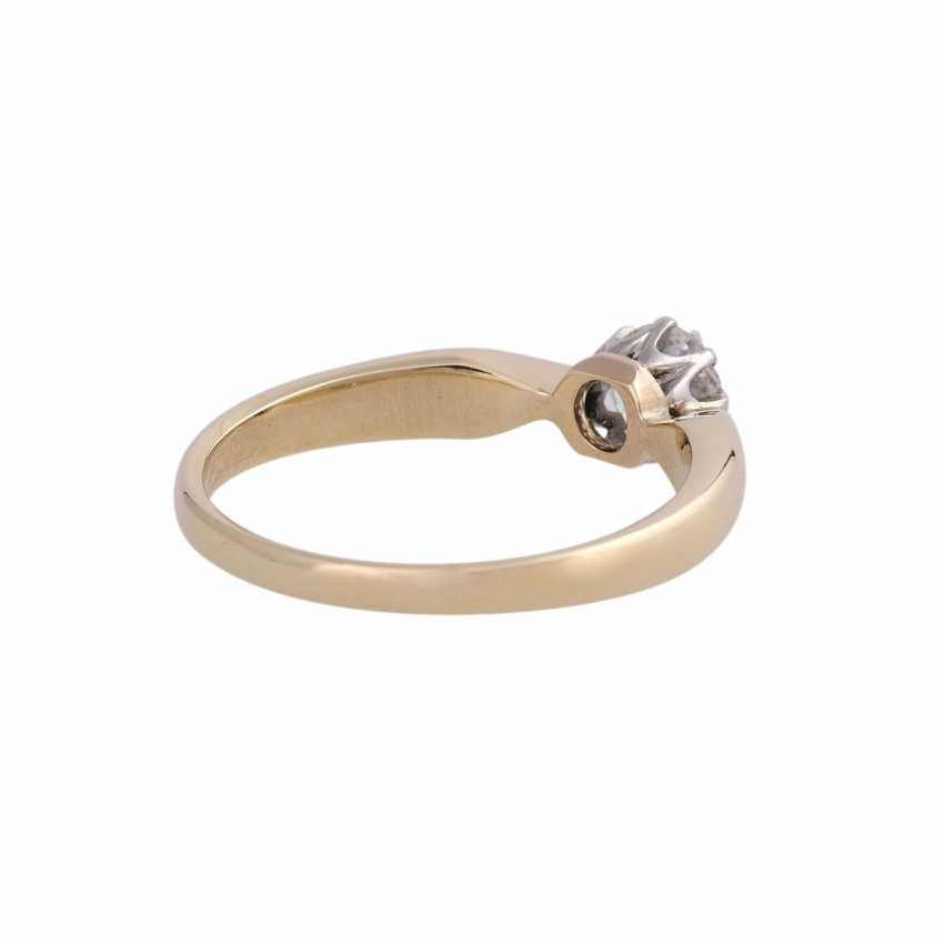 Diamond solitaire ring, approx 0.45 ct, - photo 3