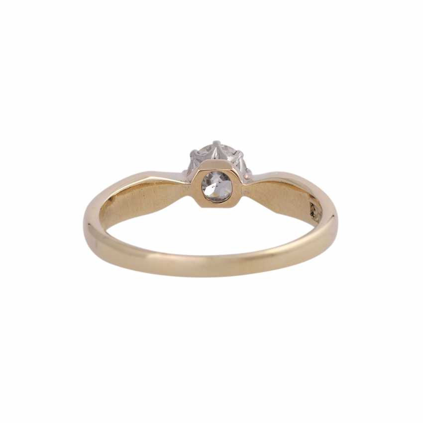 Diamond solitaire ring, approx 0.45 ct, - photo 4