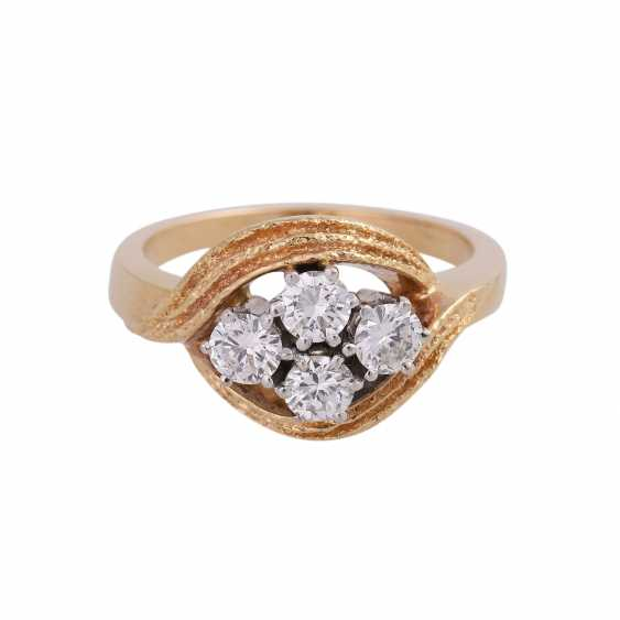 LAUDIER Ring with 4 brilliant-cut diamonds approx 0,72 ct, - photo 1