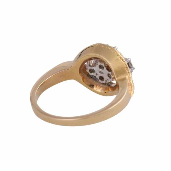 LAUDIER Ring with 4 brilliant-cut diamonds approx 0,72 ct, - photo 3