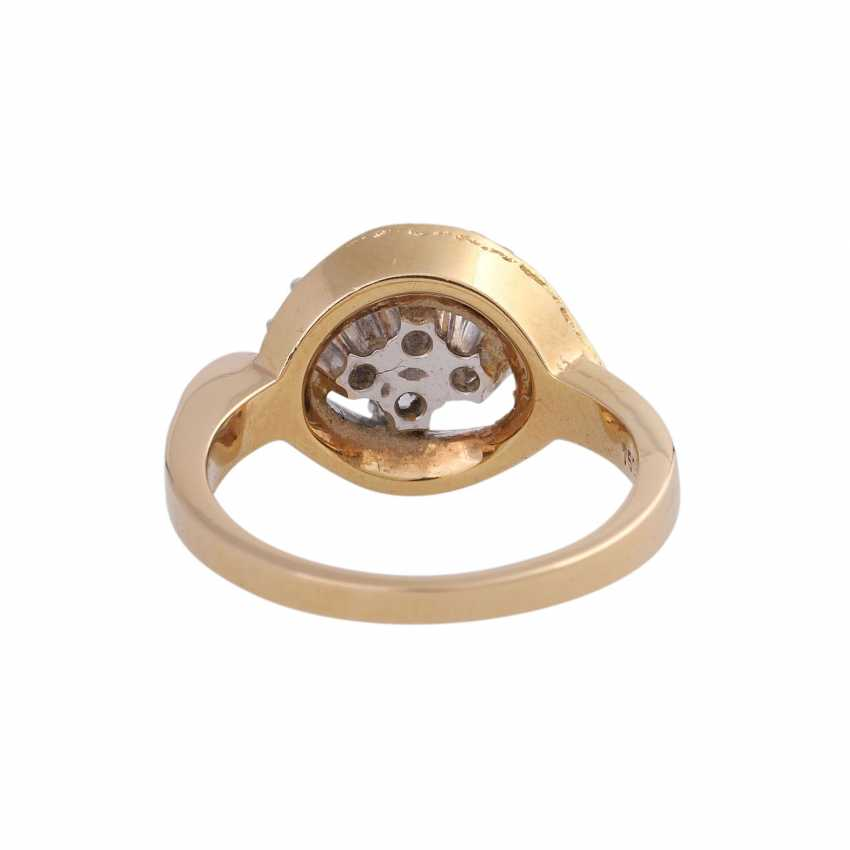 LAUDIER Ring with 4 brilliant-cut diamonds approx 0,72 ct, - photo 4