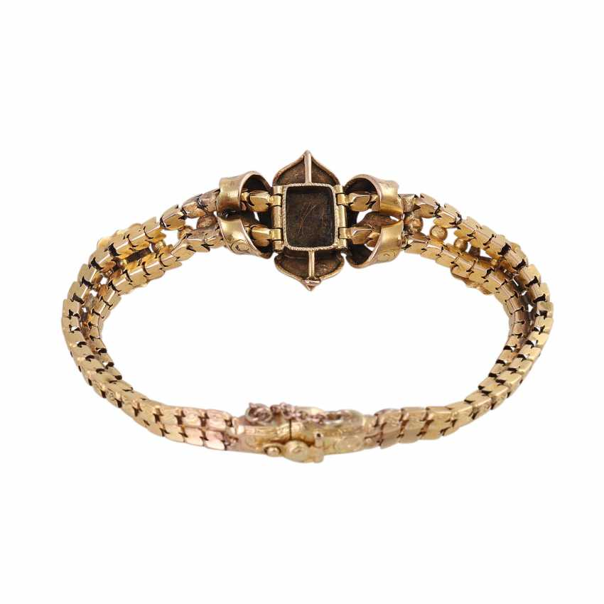Biedermeier bracelet with emeralds and old European cut diamonds - photo 3
