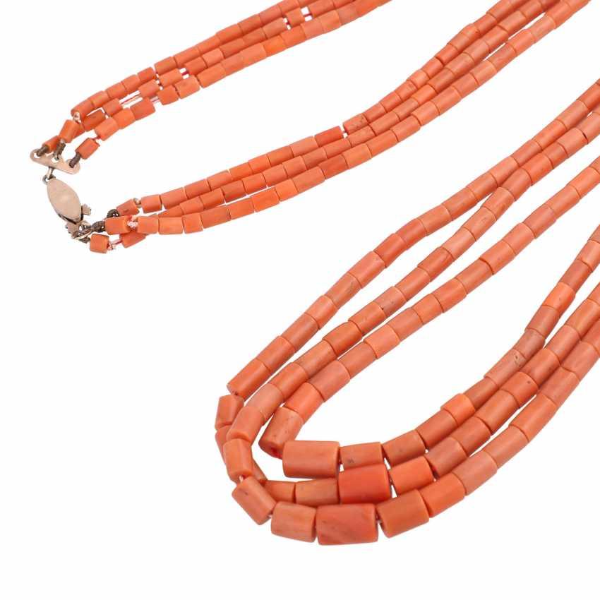 Three-Row Coral Necklace - photo 4