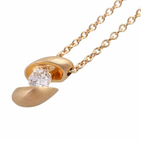 """SCHAFFRATH Collier """"Calla"""" with brilliant pendant approx 0.25 ct - photo 4"""