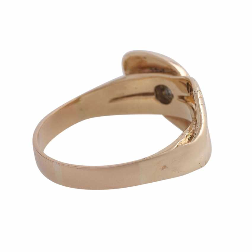 Snake ring with 1 diamond approx 0,12 ct, - photo 3