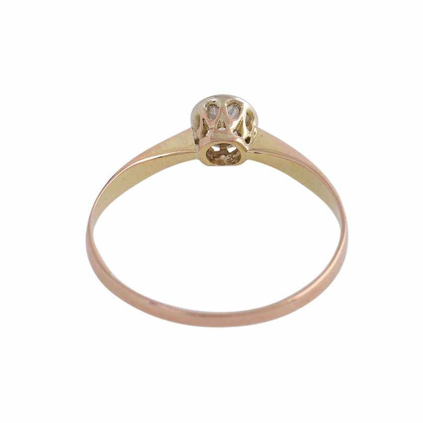 Solitaire ring with old European cut diamond, approximately 0.25 ct., GW (K)/SI2, - photo 4