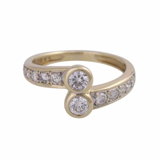 Ring-brilliant together approx. 0,85 ct - photo 1