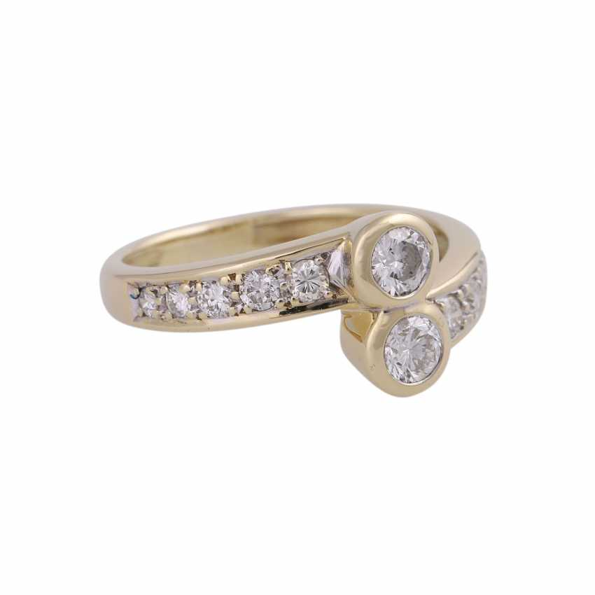 Ring-brilliant together approx. 0,85 ct - photo 2