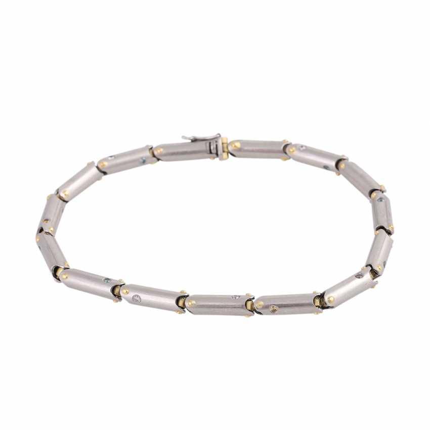 Bracelet with white, blue and orange brown diamonds - photo 1