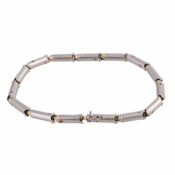 Bracelet with white, blue and orange brown diamonds - photo 2