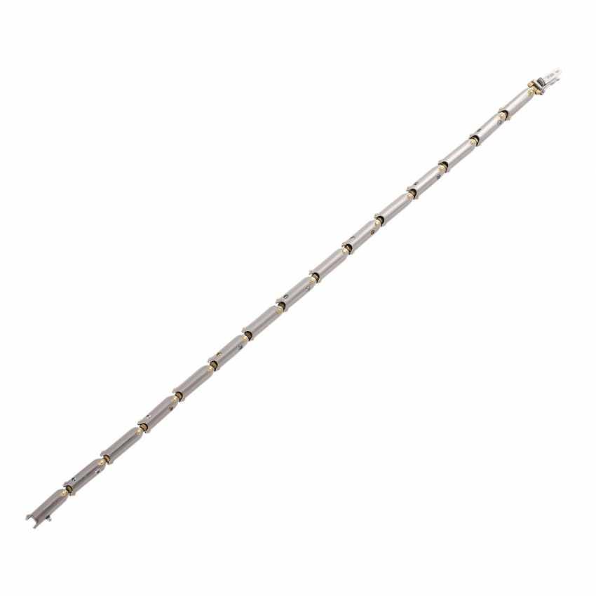 Bracelet with white, blue and orange brown diamonds - photo 3