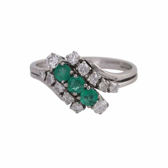 Ring with 12 brilliant-cut diamonds, together CA. 0,38 ct, - photo 1