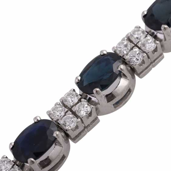 Bracelet with 4 oval fac. Sapphires, together CA. 3,6 ct - photo 5
