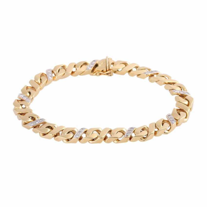 Bracelet bes. with 27 brilliant-cut diamonds, approx 0.43 ct, (punz.), - photo 1