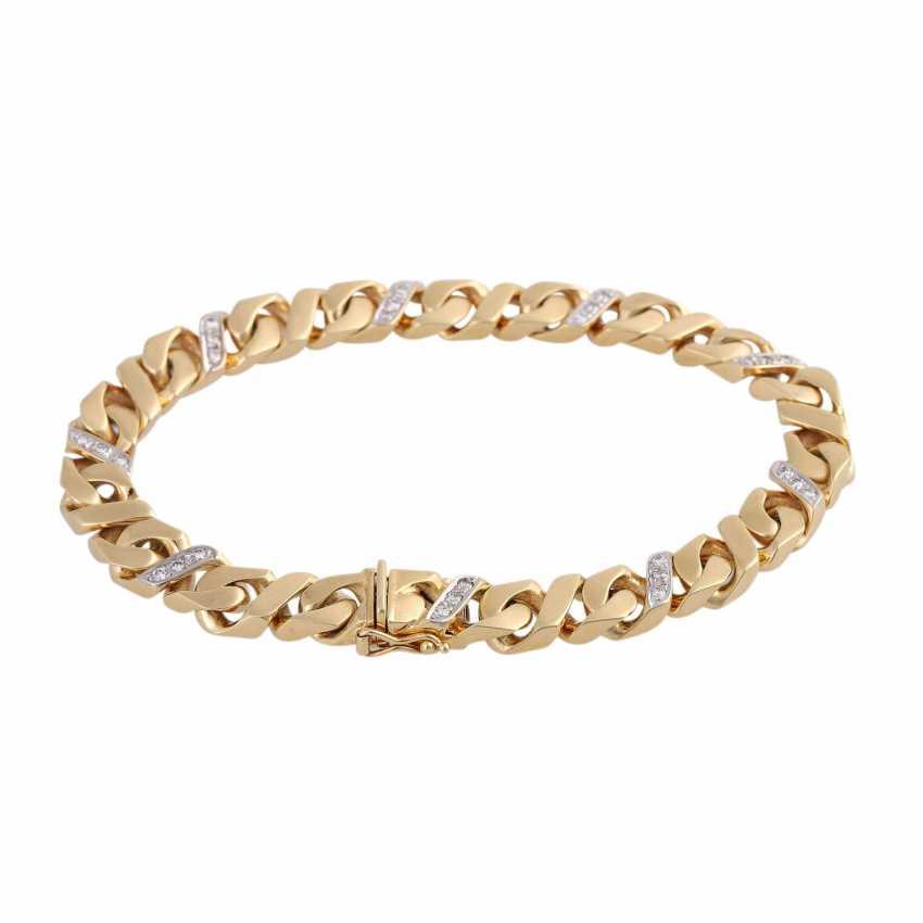 Bracelet bes. with 27 brilliant-cut diamonds, approx 0.43 ct, (punz.), - photo 2