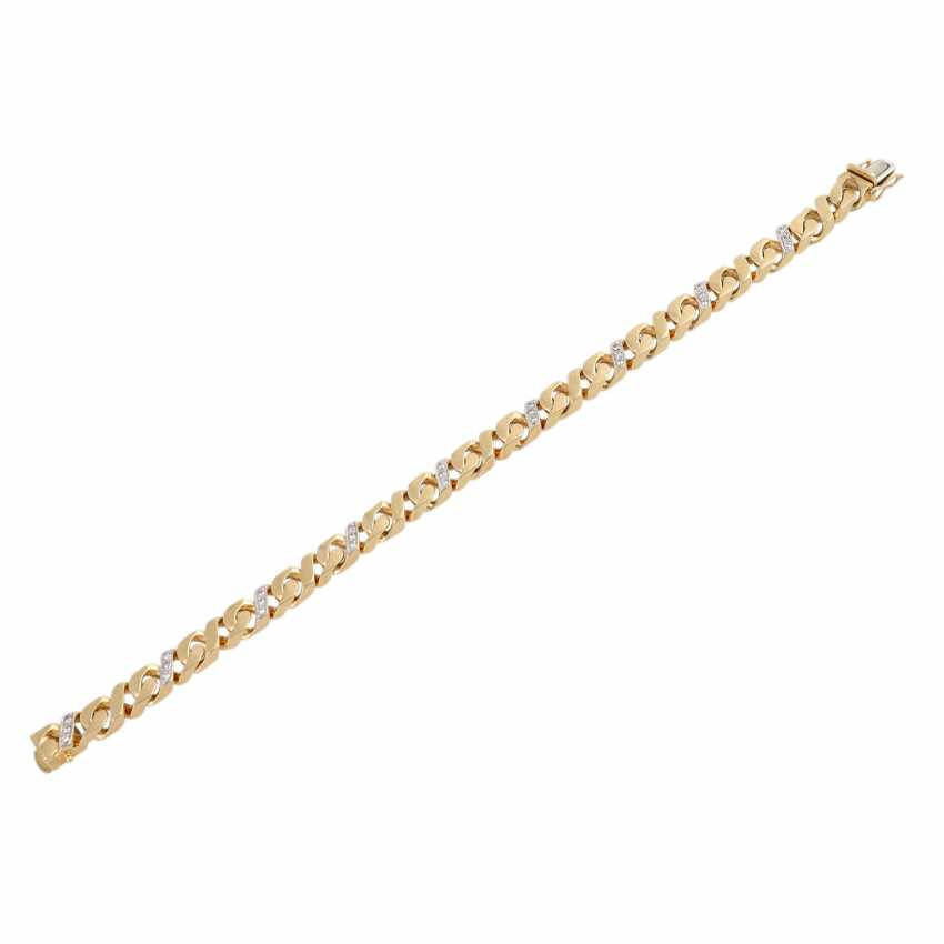Bracelet bes. with 27 brilliant-cut diamonds, approx 0.43 ct, (punz.), - photo 3