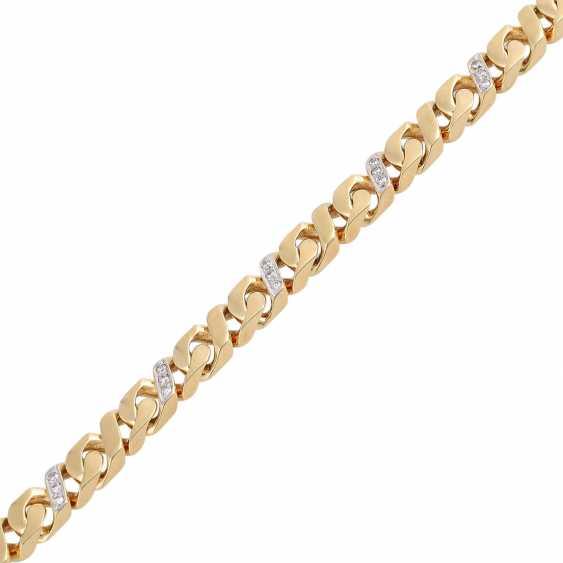 Bracelet bes. with 27 brilliant-cut diamonds, approx 0.43 ct, (punz.), - photo 4