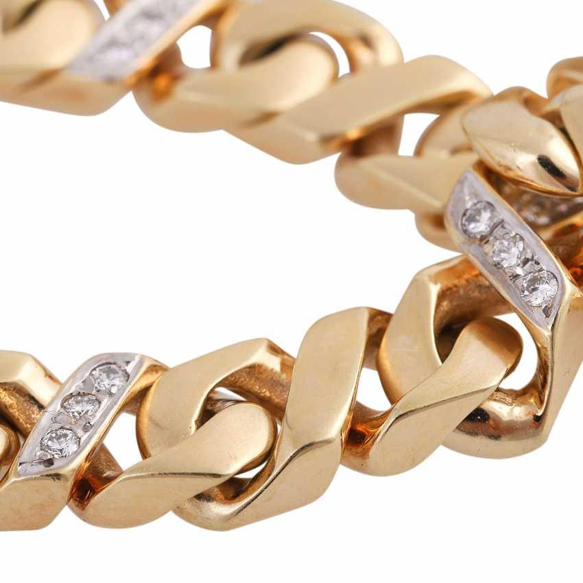 Bracelet bes. with 27 brilliant-cut diamonds, approx 0.43 ct, (punz.), - photo 5