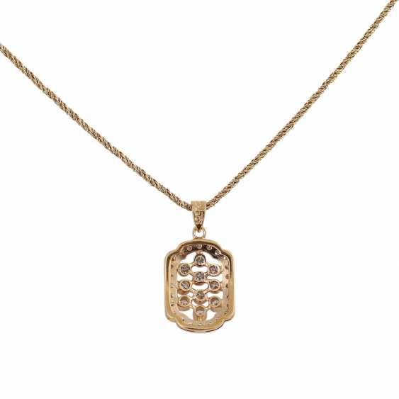 Pendant, set with brilliant, approximately 0.6 ct, - photo 5