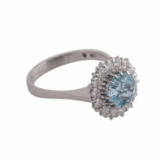 Ring with 1 fine aquamarine, round faceted, approximately 1.7 ct - photo 2