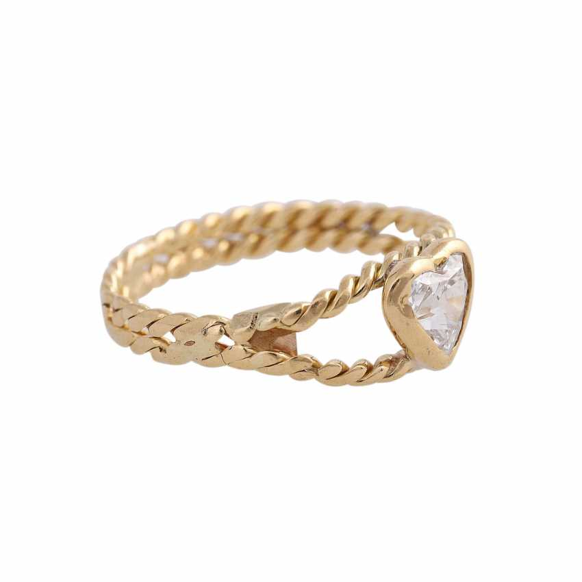 Ring with diamond heart, approx 0.25 ct - photo 2