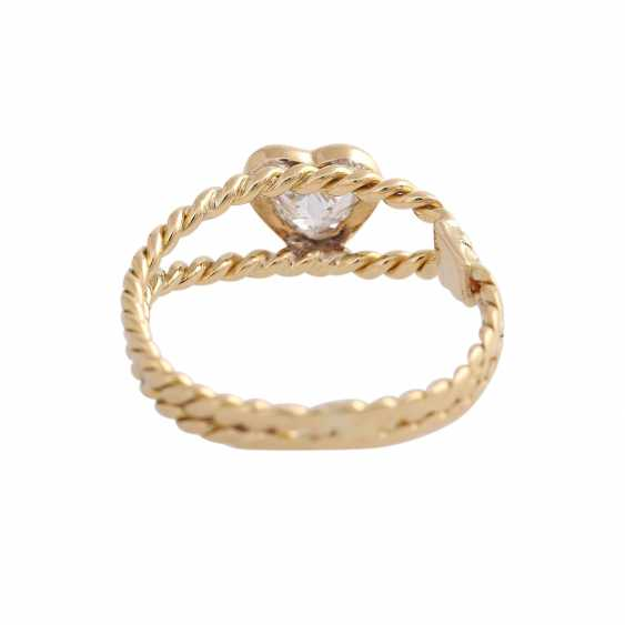 Ring with diamond heart, approx 0.25 ct - photo 4
