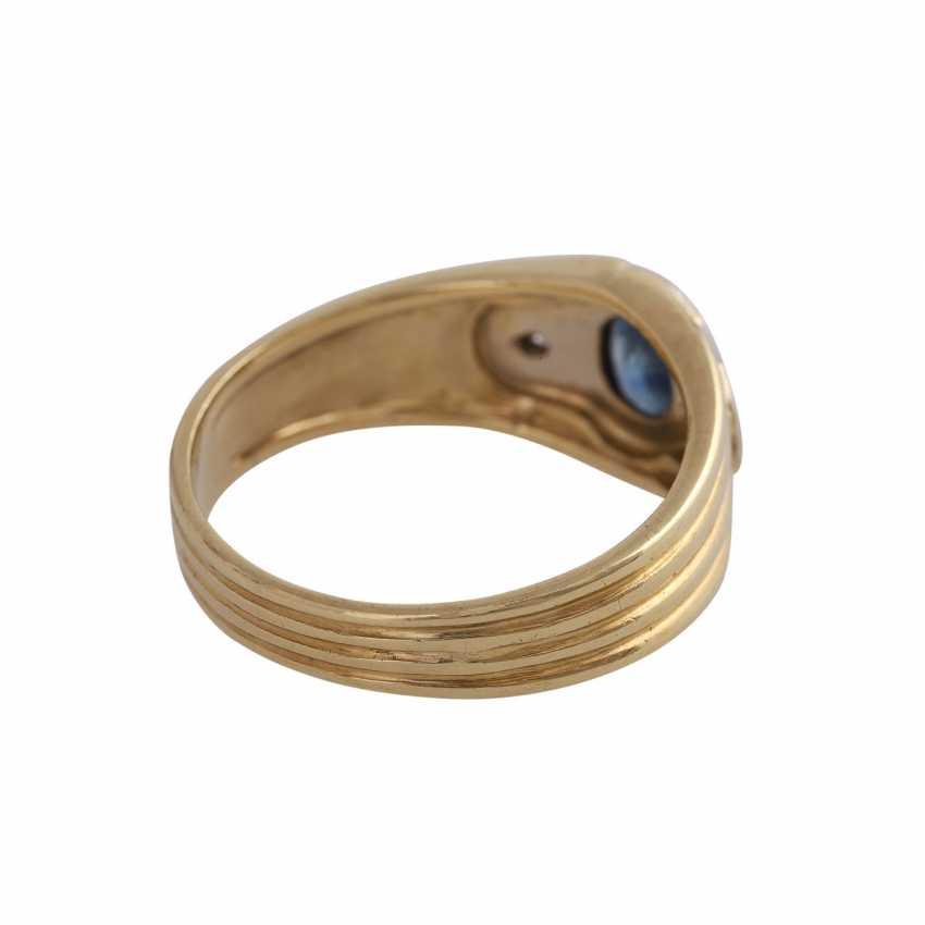 Sapphire ring with 2 imitation stones - photo 3